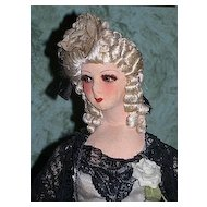 "Standing 34"" French Court Boudoir Doll"