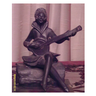 Art Deco Spelter Figure On Marble