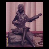 Art Deco Spelter Figure On Marble