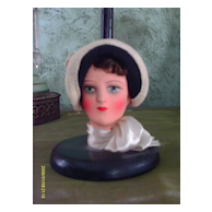 """1920/30 Deco Flapper Doll Hat Stand 9"""""""