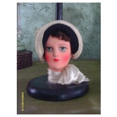 1920/30 Deco Flapper Doll Hat Stand 9""
