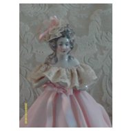 Deco Pink Half Doll Lamp 12""