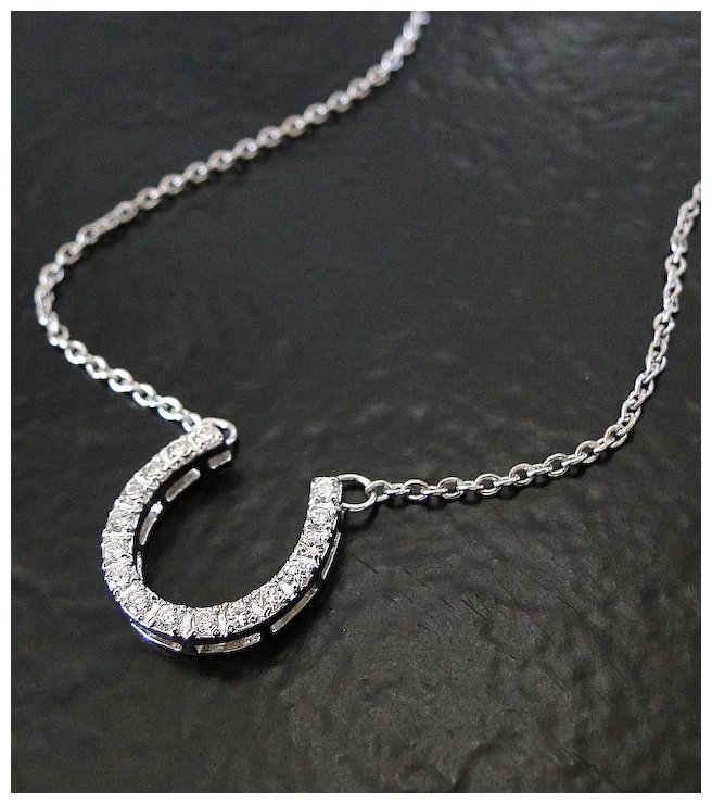 Lucky horseshoe necklace sterling silver cubic zirconia celebrity lucky horseshoe necklace sterling silver cubic zirconia celebrity style aloadofball Gallery