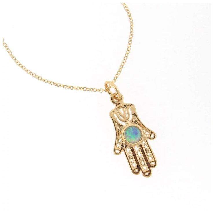 silver sterling dp fatima of pendant protection hand plated hamsa small gold necklace