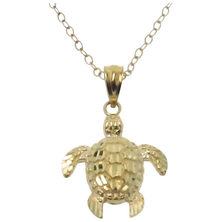 Gold turtle necklace 14k solid gold sea turtle as seen on jules gold turtle necklace 14k solid gold sea turtle as seen on jules courtney aloadofball Choice Image