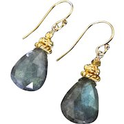 Labradorite Earrings, Large, Luminous Labradorite Vermeil And Gold Filled Drop Earrings