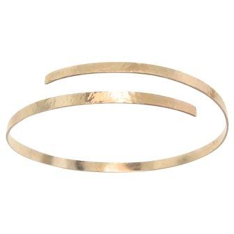 Gold Cuff Bracelet, 14K Gold Hammered Oval Bracelet, 14K Yellow or White Gold