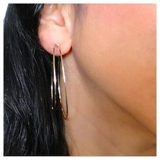 Double Hoops, 2 Inch Hoop Earrings in 14/20 Gold Filled or Sterling Silver