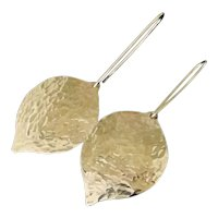 Gold Leaf Earrings, Gold Filled or Sterling Silver, Designed & Handcrafted by Theresa Mink, Similar to Meghan Markle's