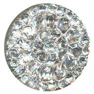 Button--Very Fine 18th C. Georgian Brilliant Diamond Paste in Silver