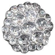Button--Georgian Period Crystal Paste in Cut-down Silver Settings--Medium