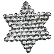 Button--Late Georgian Period Brilliant Cut Steel Star of David--Medium