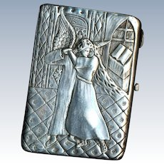 Imperial Russia Cigarette Case--Tamara and Demon--Heavy 84 Silver Ivan Saltykov Moscow