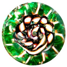 Button--Crazy Wild Vintage Jacques Israel Twist Torsade Paperweight