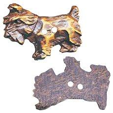 Button--Vintage Hard-to-find Figural Burwood or Syrocco Scotty Dog