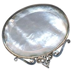 Brooch--Late 17th or Early 18th C. Mother of Pearl in Silver