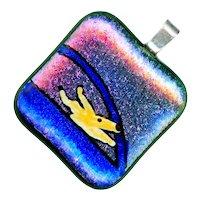 Pendant--Vintage Artisan Enamel on Dichroic Glass--Joy Ride