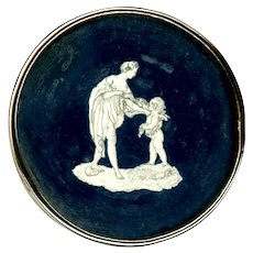 Button--Large 18th C. Pen and Ink Under Glass--Mythological Figures