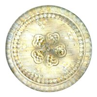 Button--Large Late 19th C. Lacy Glass Champagne Posy