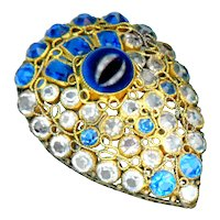 Brooch--Vintage Hobe Jewels of Legendary Splendor Glass Diamonds and Sapphires