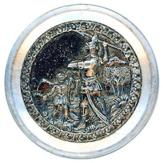 Button--Scarce Large Late 19th C. Biblical David and Goliath
