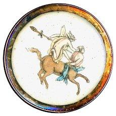 Button--Large 18th C. Georgian Mythology Theseus Capturing Centaur