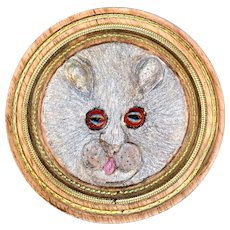 Button--Large Studio Wood, Metal, and Glass Fluffy Rat by Frank Rossi