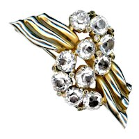Brooch--Large Vintage No Name Rhinestone Bling