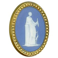 Button--Late Georgian Period Wedgwood Figure and Ibis