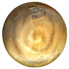 Button--Vintage Vegetable Ivory Golfer--Medium