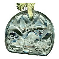 Pendant--Vintage 1920 Rene Lalique Crystal Art Glass Gui (Mistletoe)