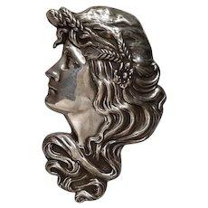 Unger Bros. Sterling Art Nouveau Pin / Brooch - C. 1905