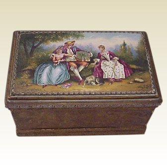 Austrian Working Musical Jewel / Trinket Casket - Circa 1925