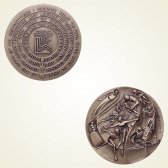 1980 Olympic Athlete's Participation Medal in Case - Lake Placid