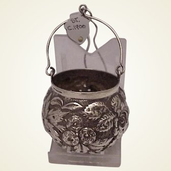 Sterling Repousse Tea Infuser - C. 1900
