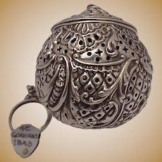 Gorham Sterling Tea Ball # 145 - Date Mark 1893