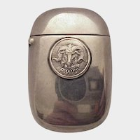 Sterling Match Safe - Unusual Striker - C. 1900