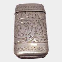 Tiffany & Co. Sterling Match Safe - C 1900