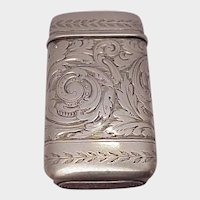 Tiffany & Co. Sterling Match Safe - C 1900