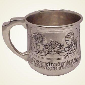 Kerr Sterling Rhyme Baby Cup #1484 - C.1905