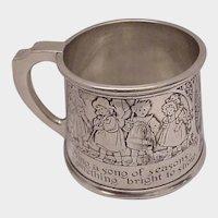 Kerr Sterling Rhyme Baby Cup #1528 - C.1900