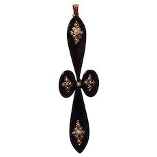 Victorian 14K and Onyx Cross - Circa 1890