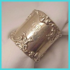 Whiting Sterling Napkin Ring # 390 - Dated 1902