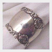 Unger Bros. Sterling Napkin Ring - Circa 1900