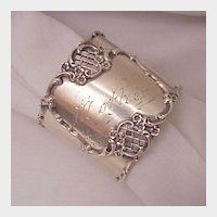 Sterling Napkin Ring # 8668 - Dated 1902
