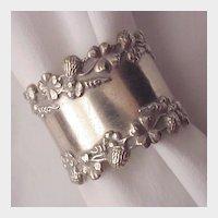 Sterling 4 Leaf Clover Napkin Ring - Circa 1905