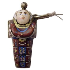 Naughty Enamel Sarcophagus Watch Fob - C. 1900