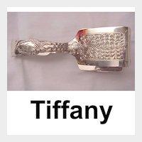 "Tiffany ""Broom Corn"" Sterling Tongs - Pat. 1890"