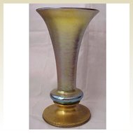 Large Tiffany Studios Bronze Base & Favrile Art Glass Vase