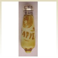 English Cameo Scent Bottle Circa 1890